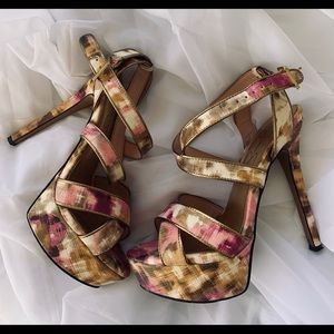 "Jessica Simpson 5.5"" Platform Strappy Heels"